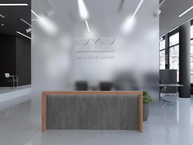 Makieta znaku ściennego biura