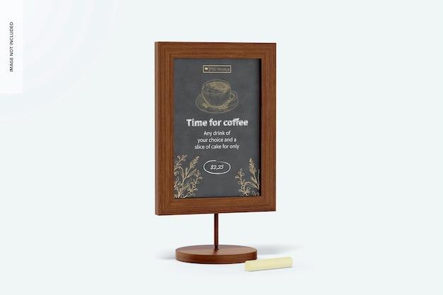 Makieta znaku tablicy stołowej, widok z lewej strony