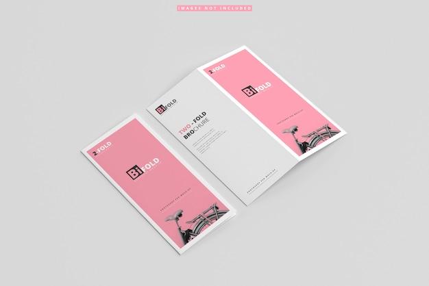 Makiety broszur składanych podwójnie