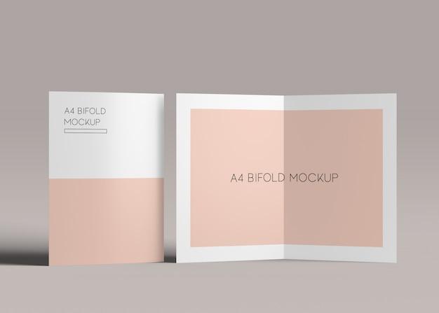 Makiety broszury bifold a4