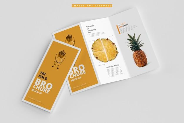 Makiety broszury składanej na trzy części
