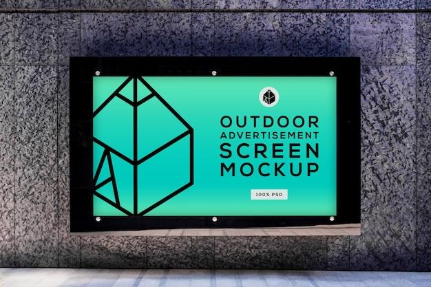 Makiety ekranu reklamy zewnętrznej