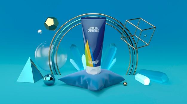 Makiety kosmetyczne tubka abstrakcyjna geometria 3d