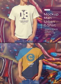 Makiety koszulek dla mężczyzn