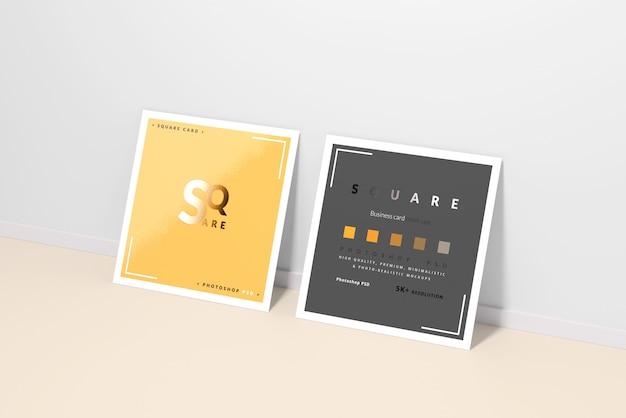 Makiety kwadratowych wizytówek