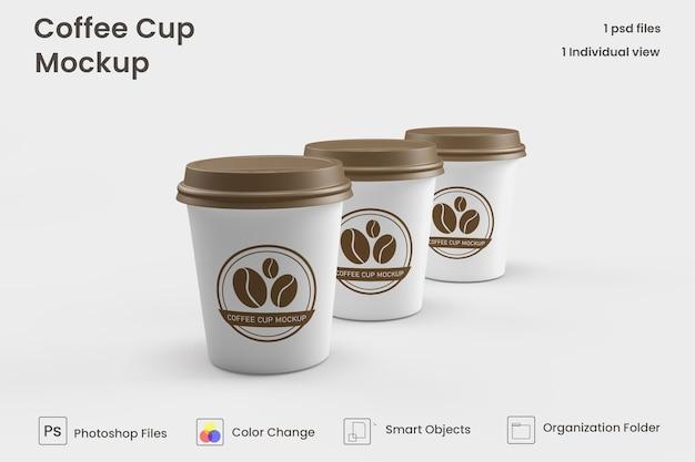 Makiety mini filiżanek do kawy premium psd