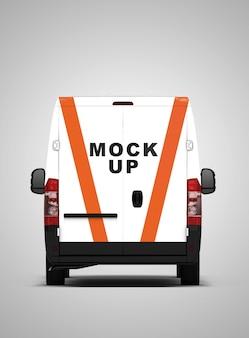 Makiety minibusów z widokiem z tyłu
