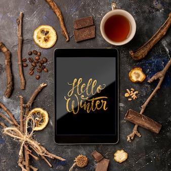Makiety odżywczych ziół na zimę