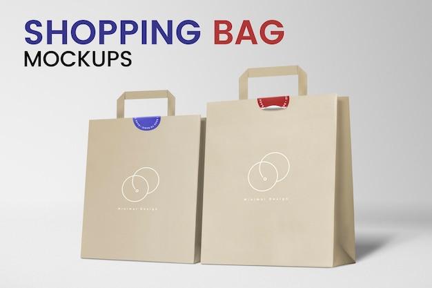 Makiety papierowej torby na zakupy psd