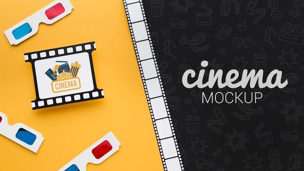 Makiety pasków filmowych i okularów 3d