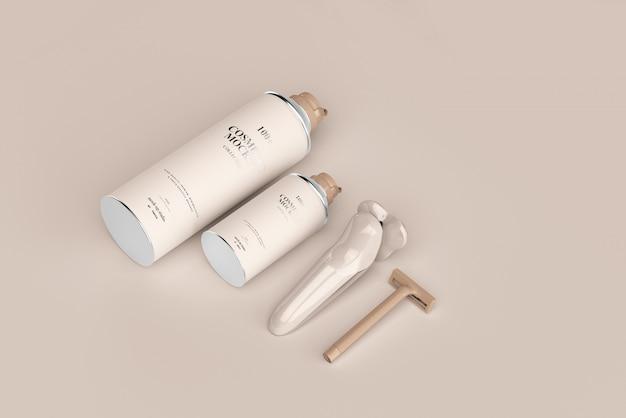Makiety produktów do golenia