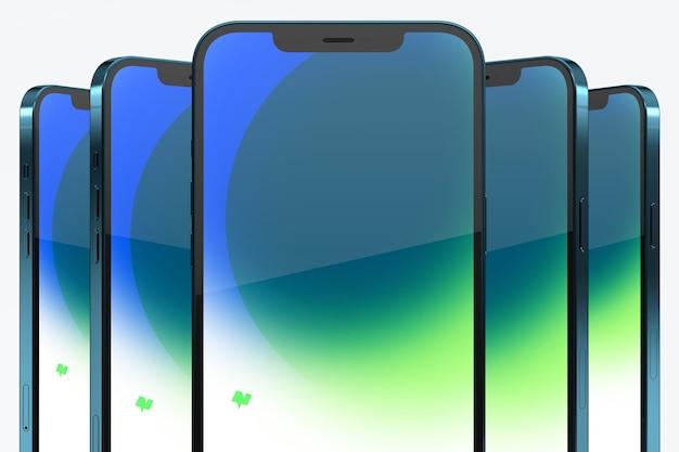 Makiety smartfonów na białym tle