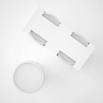 Makiety szablon plastikowy pojemnik wiadro