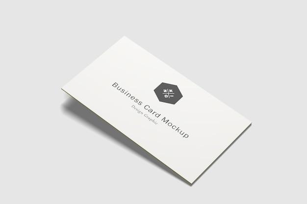 Makiety wizytówek na białym tle
