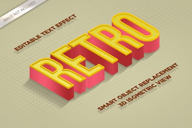 Makro 3d izometryczny styl efektu tekstu