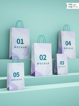 Mała makieta papierowej torby na zakupy