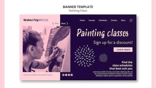 Malowanie szablonu transparent klasy
