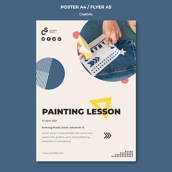 Malowanie szablonu ulotki lekcji