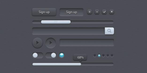 Mały panel z elementów interfejsu użytkownika