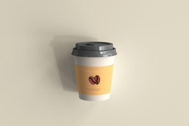 Mały papierowy kubek kawy makieta