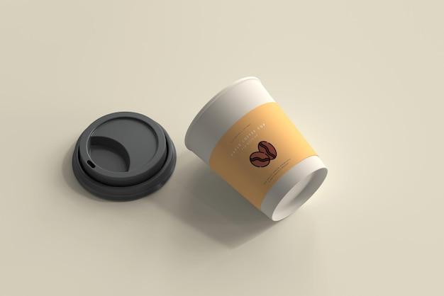 Mały Papierowy Kubek Kawy Makieta Darmowe Psd