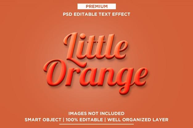 Mały pomarańczowy efekt 3d tekst szablonu