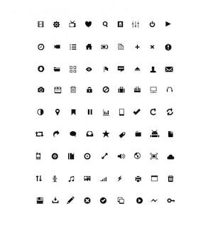 Mały zestaw ikon psd