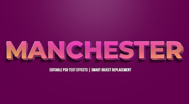 Manchester - nowoczesne efekty gradientu tekstu