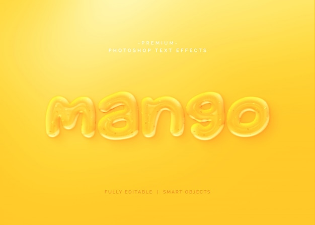 Mango z efektem tekstowym