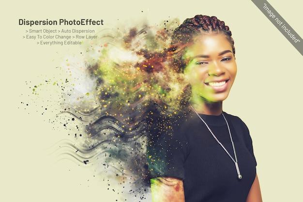 Manipulacja dyspersją szablon photoshop