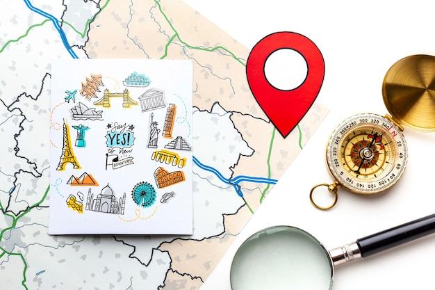 Mapa podróżników i planizacja
