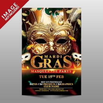 Mardi gras masquerade party.