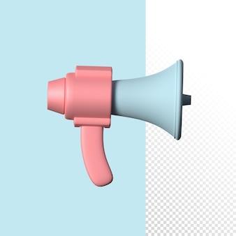 Marketing 3d mikrofon ręczny na białym tle renderowania