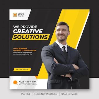 Marketing biznesowy w mediach społecznościowych, post na facebooku i baner internetowy