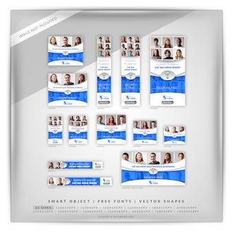 Marketing biznesowy zestaw bannerów google