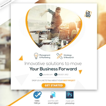 Marketing business social media web banner