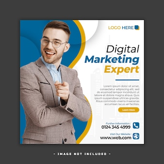 Marketing cyfrowy baner w mediach społecznościowych