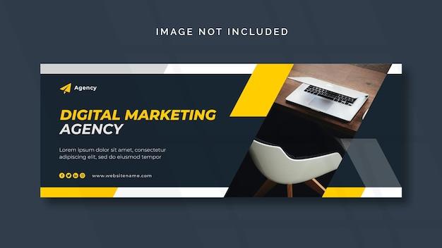Marketing cyfrowy facebook lub szablon banera internetowego