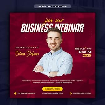 Marketing cyfrowy i korporacyjny baner internetowy na żywo na instagramie lub szablon postu w mediach społecznościowych