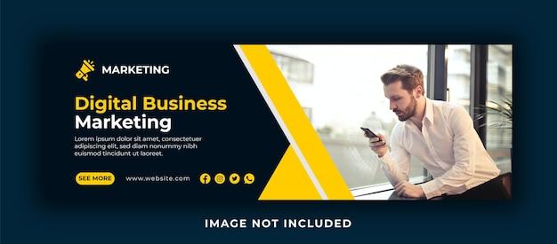 Marketing cyfrowy na facebooku i szablon banera internetowego