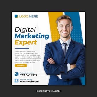 Marketing cyfrowy projektowanie banerów w mediach społecznościowych psd