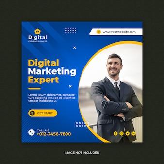 Marketing cyfrowy szablon banera społecznościowego