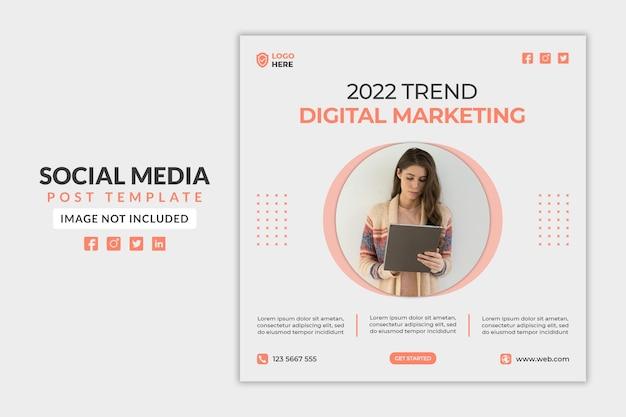 Marketing cyfrowy w mediach społecznościowych lub szablon banera internetowego