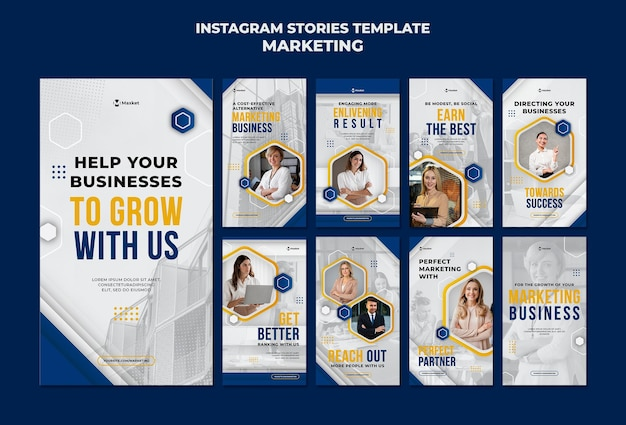 Marketingowe biznesowe historie w mediach społecznościowych
