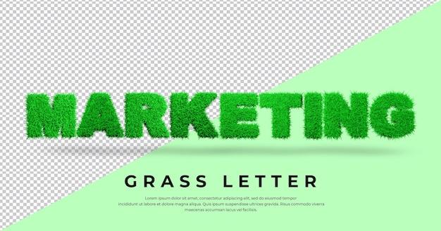 Marketingowy list trawa