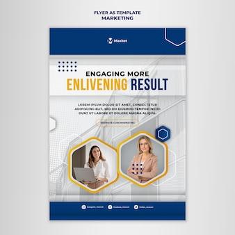 Marketingowy szablon druku biznesowego