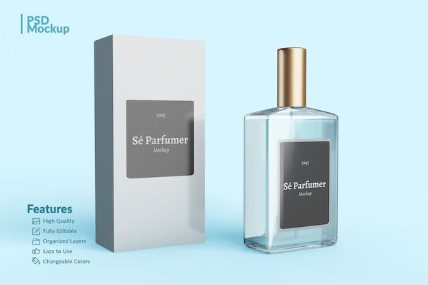 Markowa butelka perfum i makieta do edycji