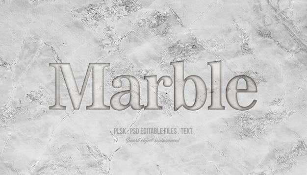 Marmurowy efekt stylu tekstu 3d