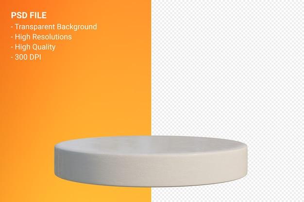 Marmurowy podium minimalny projekt w renderowaniu 3d na białym tle