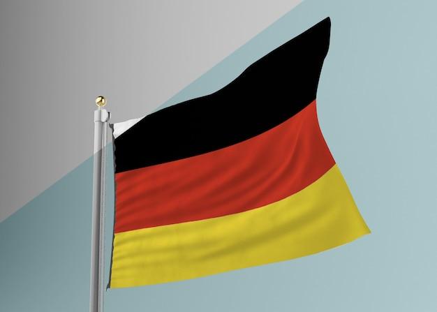 Maszt flagowy z flagą niemiec